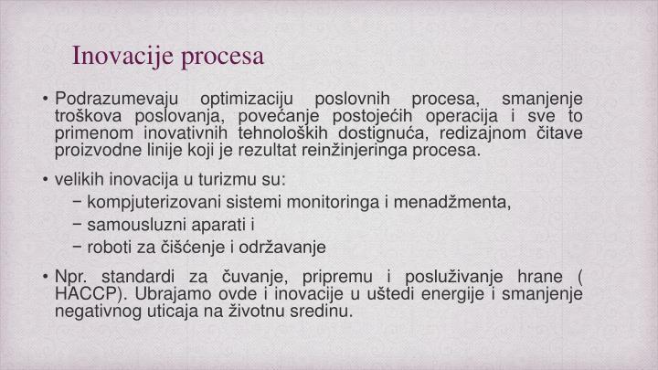 Inovacije procesa