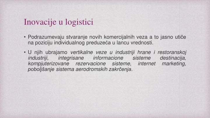Inovacije u logistici