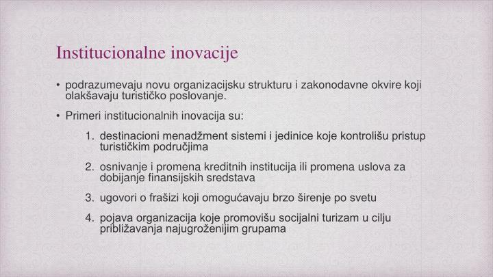 Institucionalne inovacije