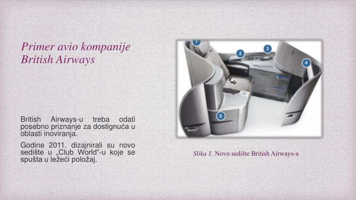 Primer avio kompanije British Airways
