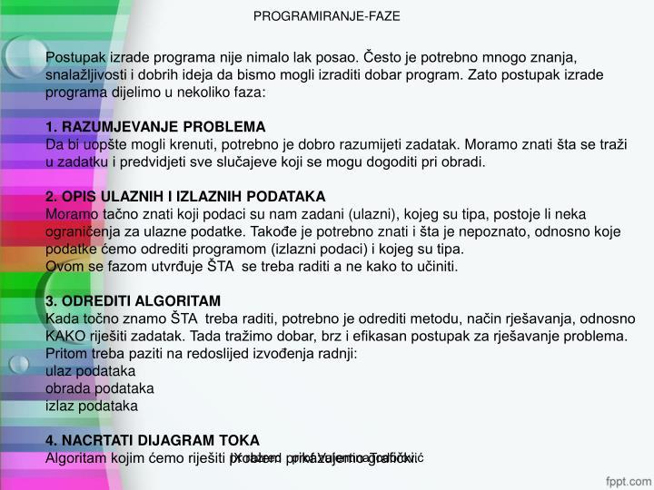 PROGRAMIRANJE-FAZE
