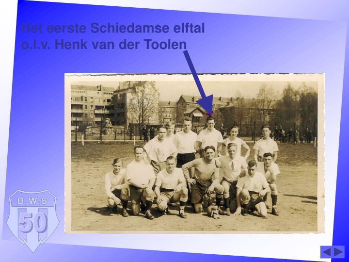 Het eerste Schiedamse elftal