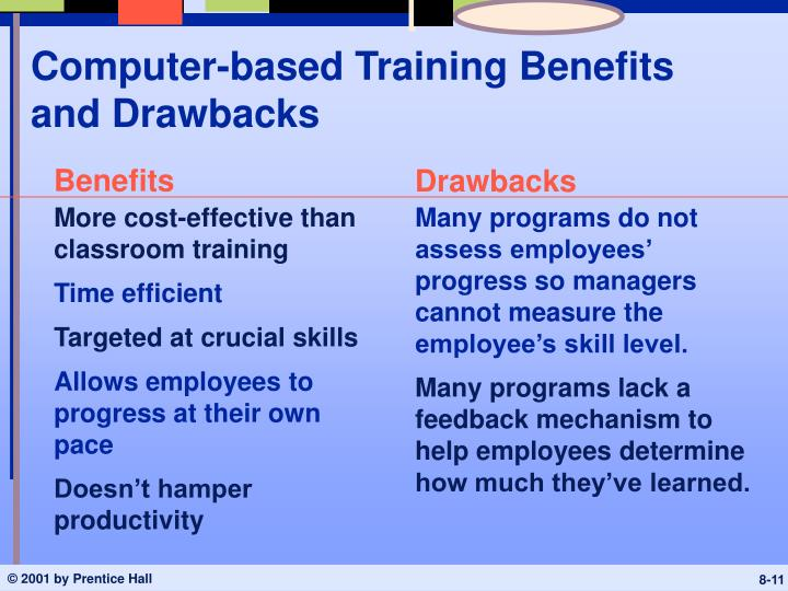 Computer-based Training Benefits and Drawbacks