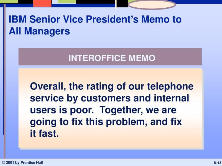 IBM Senior Vice President's Memo to All Managers
