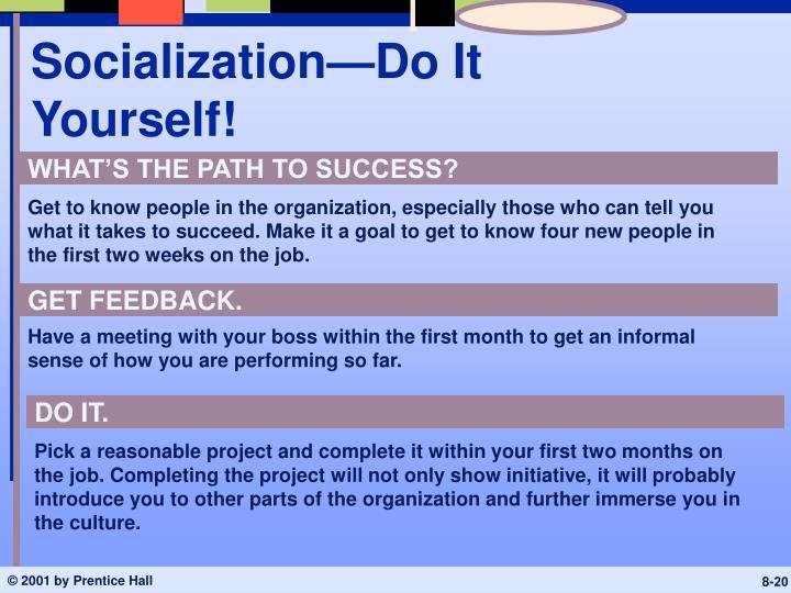 Socialization—Do It Yourself!