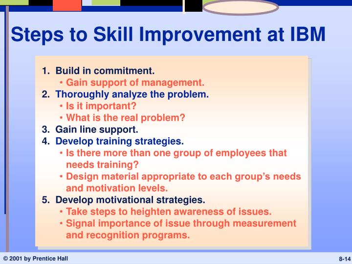 Steps to Skill Improvement at IBM