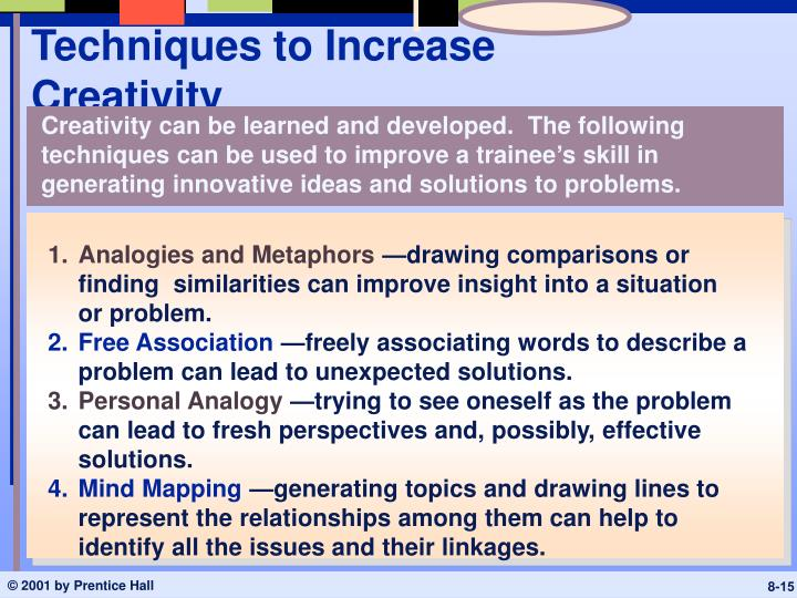 Techniques to Increase Creativity