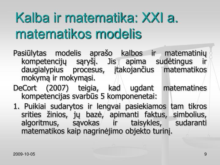Kalba ir matematika: XXI a.