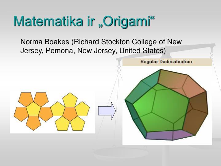 "Matematika ir ""Origami"""