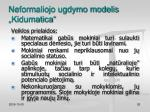neformaliojo ugdymo modelis kidumatica4