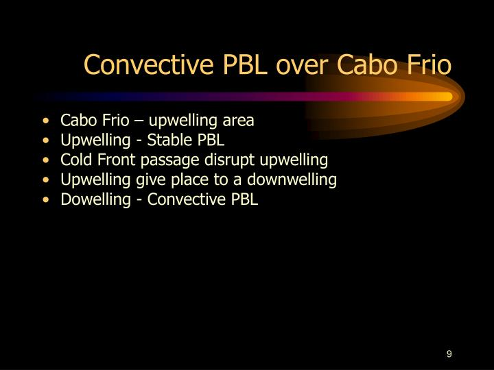 Convective PBL over Cabo Frio