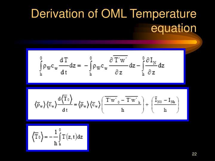Derivation of OML Temperature  equation