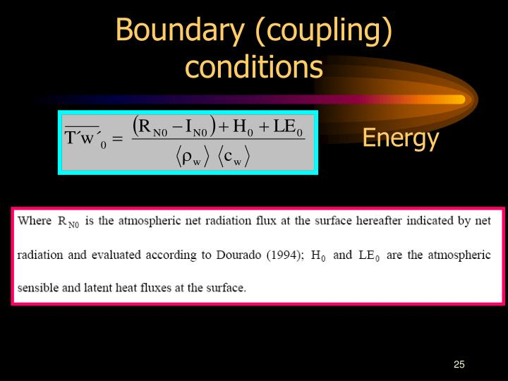Boundary (coupling) conditions