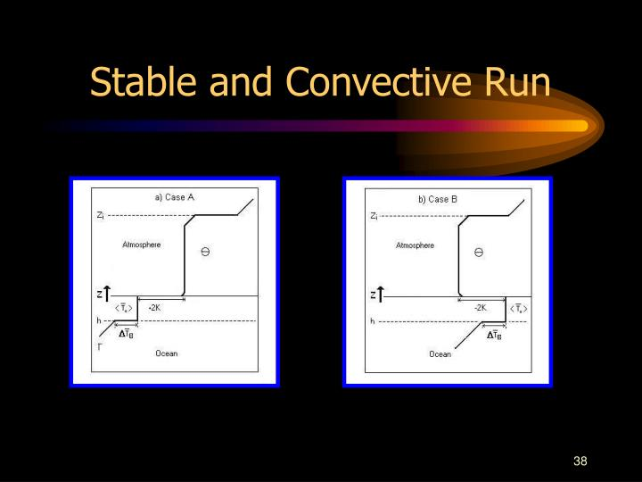 Stable and Convective Run