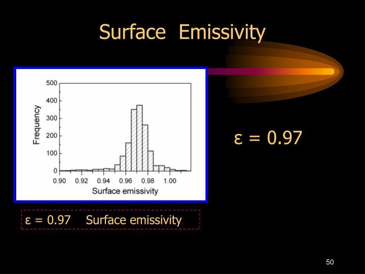 Surface  Emissivity
