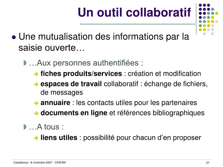 Un outil collaboratif