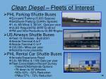 clean diesel fleets of interest