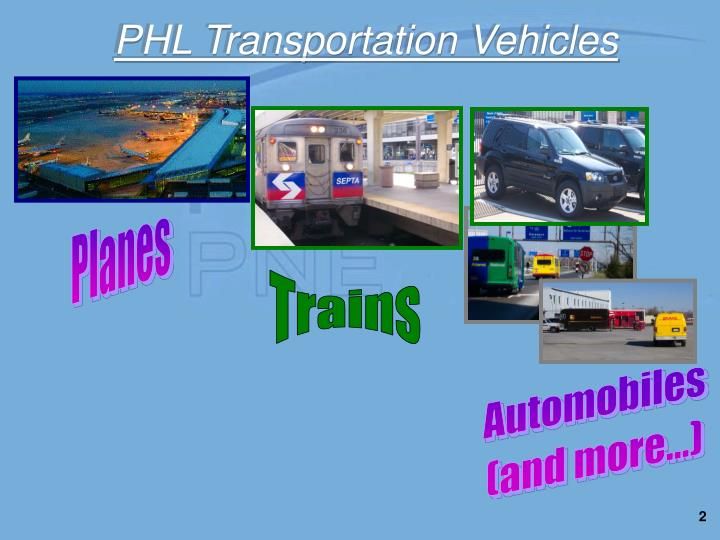 Phl transportation vehicles