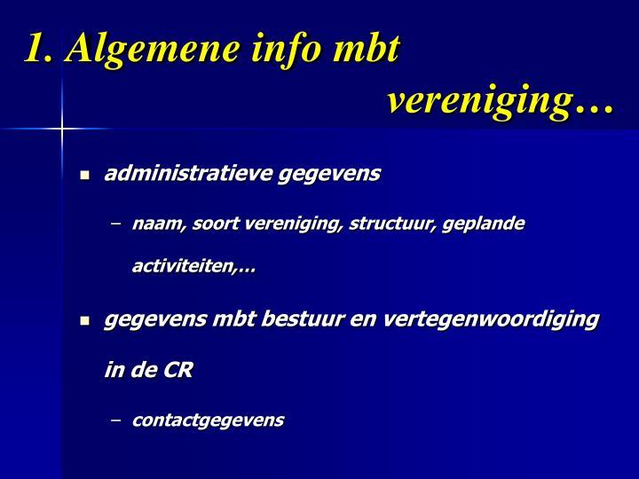 1. Algemene info mbt     vereniging…