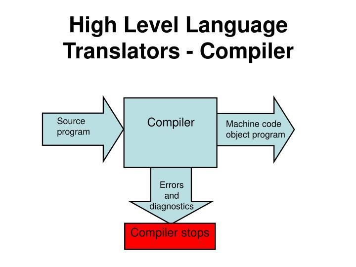High Level Language Translators - Compiler