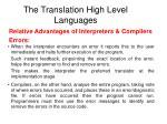 the translation high level languages1