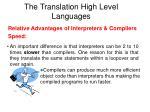 the translation high level languages2