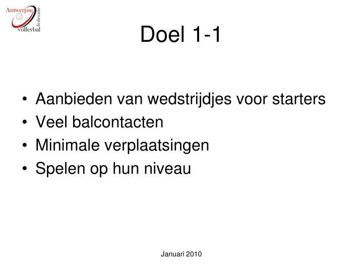Doel 1-1