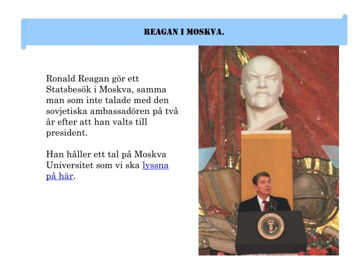 Reagan i Moskva.
