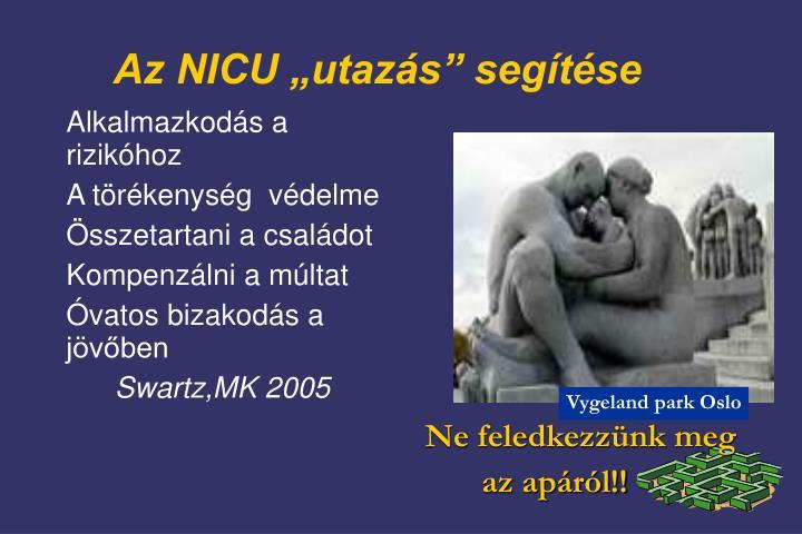 """Az NICU """"utazás"""" segítése"""