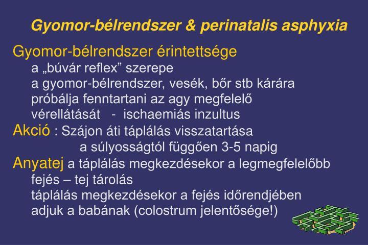 Gyomor-bélrendszer & perinatalis asphyxia