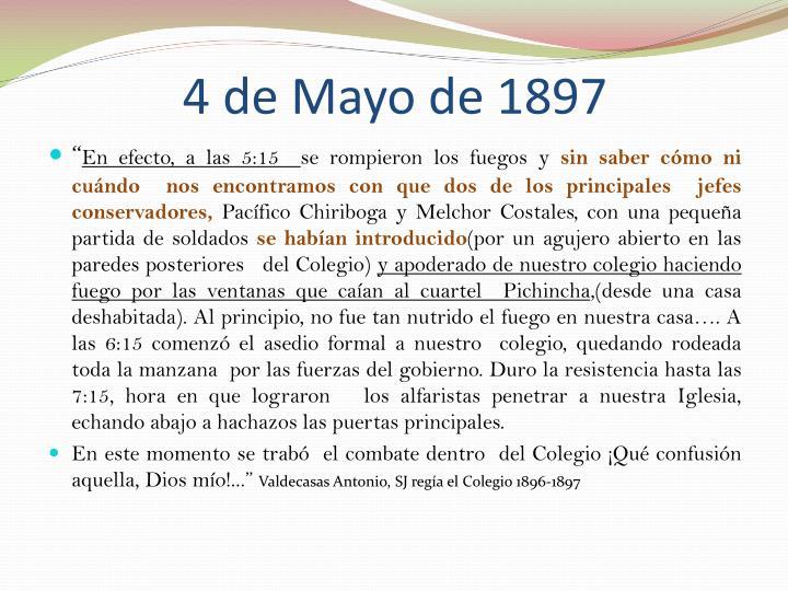 4 de Mayo de 1897