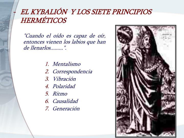 -EL KYBALIÓN  Y LOS SIETE PRINCIPIOS HERMÉTICOS