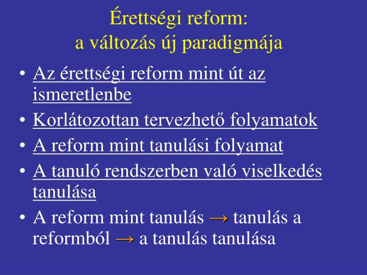 Érettségi reform: