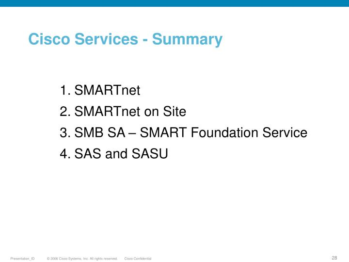 Cisco Services - Summary