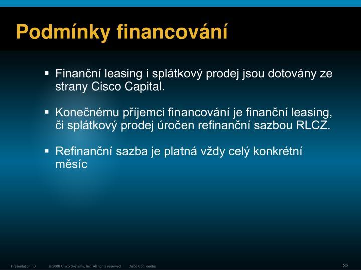 Podmínky financování