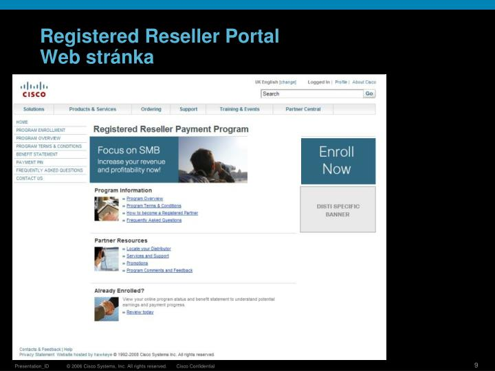 Registered Reseller Portal