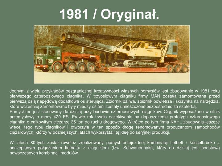 1981 / Oryginał.