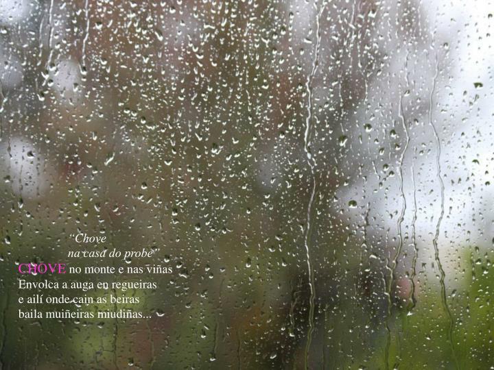 """""""Chove"""