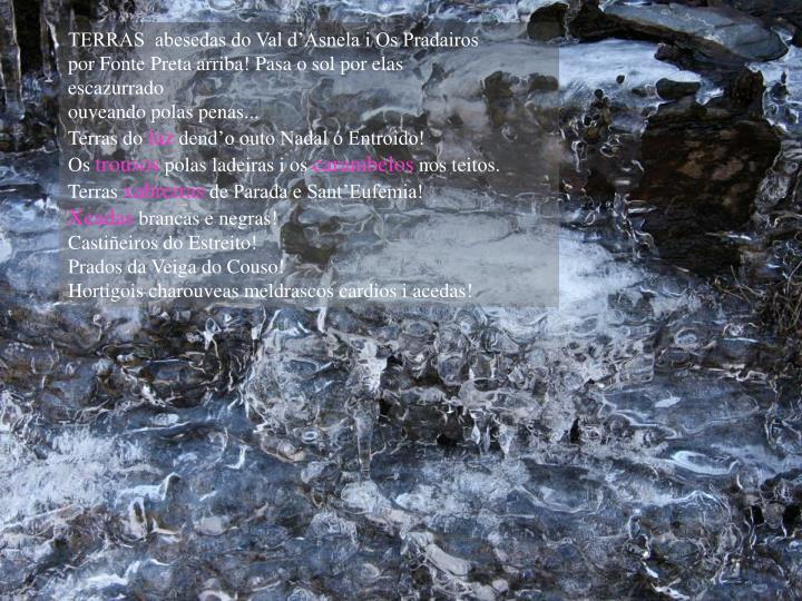 TERRAS  abesedas do Val d'Asnela i Os Pradairos