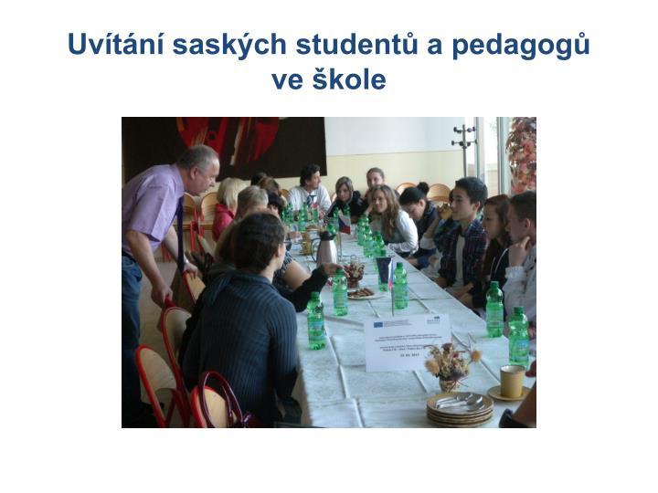 Uvítání saských studentů a pedagogů
