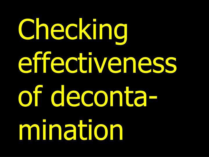 Checking effectiv
