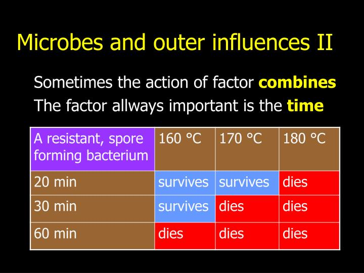 Microbes and outer influences II