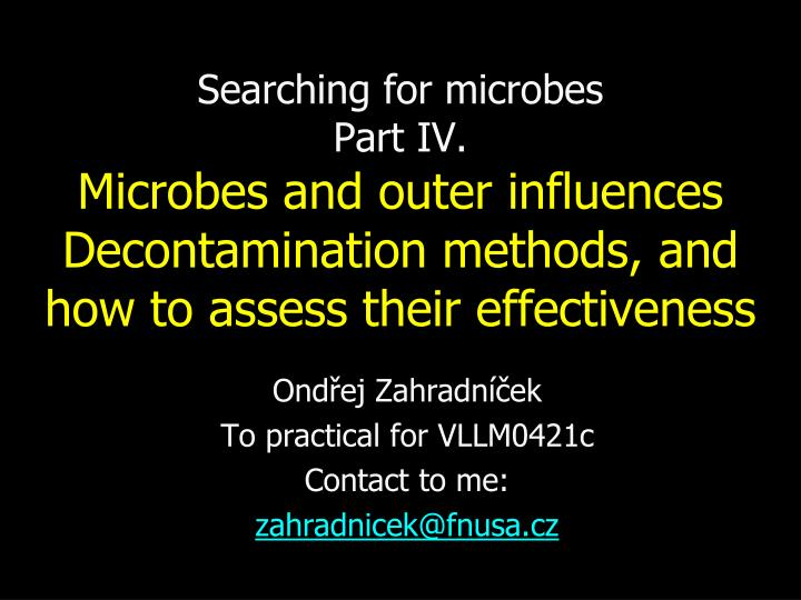 Searching for microbes