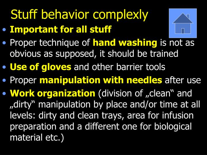 Stuff behavior complexly