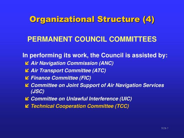 Organizational Structure (4)