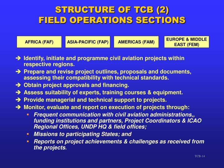 Identify, initiate and programme civil aviation projects within respective regions.