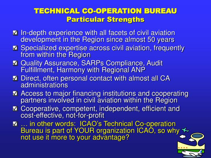 TECHNICAL CO-OPERATION