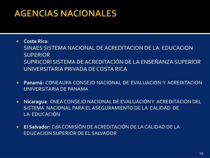 AGENCIAS NACIONALES