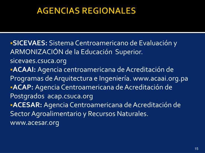 AGENCIAS REGIONALES
