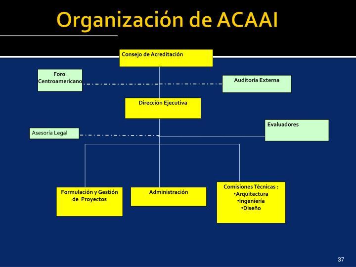 Organización de ACAAI